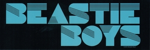 BEASTIE BOYS BLACK & BLUE LOGO STICKER