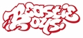 BEASTIE BOYS OLD SCHOOL LOGO RUB-ON STICKER RED