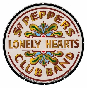 BEATLES SGT PEPPERS LONELY HEARTS CLUB BAND STICKER