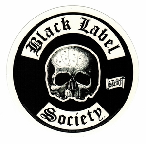BLACK LABEL SOCIETY SKULL LOGO STICKER
