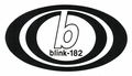 BLINK-182 BAND LOGO RUB-ON STICKER BLACK