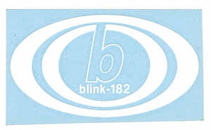 BLINK-182 BAND LOGO RUB-ON STICKER WHITE