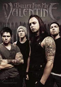 BULLET FOR MY VALENTINE BAND PHOTO FABRIC POSTER