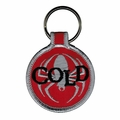 COLD YEAR OF THE SPIDER EMBROIDERED ROUND KEYCHAIN