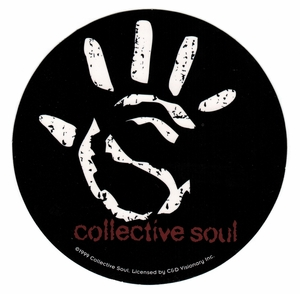 COLLECTIVE SOUL HAND ROUND STICKER