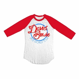 DAVID BOWIE 1978 WORLD TOUR MEN'S RAGLAN T-SHIRT