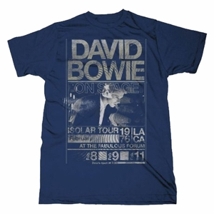 DAVID BOWIE ISOLAR TOUR 1976 SLIM FIT MEN'S T-SHIRT