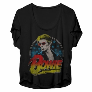 DAVID BOWIE RED SHADES PHOTO WOMEN'S DOLMAN T-SHIRT