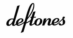 DEFTONES RUB-ON STICKER BLACK