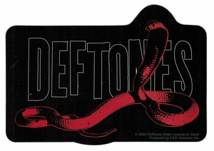 DEFTONES SNAKE STICKER