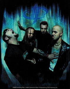 DROWNING POOL GROUP PHOTO STICKER