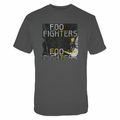 FOO FIGHTERS BOX GUITAR CHARCOAL SLIM FIT MEN'S T-SHIRT