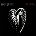 FOO FIGHTERS HEART ONE BY ONE BLACK STICKER SMALL