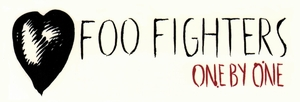 FOO FIGHTERS HEART ONE BY ONE WHITE STICKER LARGE