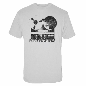 FOO FIGHTERS REEL TO REEL SILVER SLIM FIT MEN'S T-SHIRT