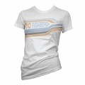 FOO FIGHTERS WOMEN'S STRIPED WHITE TISSUE TEE