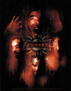 GODSMACK FACES STICKER