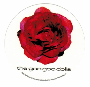 GOO GOO DOLLS ROSE ROUND STICKER