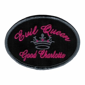 GOOD CHARLOTTE EVIL QUEEN EMBROIDERED PATCH