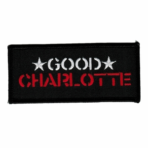 GOOD CHARLOTTE STAR NAME LOGO EMBROIDERED PATCH