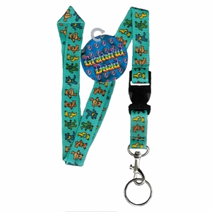GRATEFUL DEAD DANCING BEARS LANYARD KEYCHAIN HOLDER