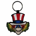 GRATEFUL DEAD UNCLE SAM EMBROIDERED HEAD KEYCHAIN