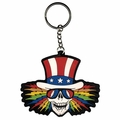 GRATEFUL DEAD UNCLE SAM RUBBER HEAD KEYCHAIN