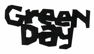 GREEN DAY KERPLUNK LOGO RUB-ON STICKER BLACK