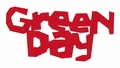 GREEN DAY KERPLUNK LOGO RUB-ON STICKER RED