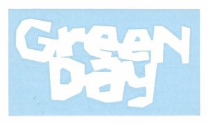 GREEN DAY KERPLUNK LOGO RUB-ON STICKER WHITE