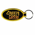 GREEN DAY METAL GOD EMBROIDERED OVAL KEYCHAIN