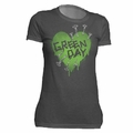 GREEN DAY NAIL HEART WOMEN'S T-SHIRT