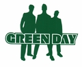 GREEN DAY SILHOUETTE RUB-ON STICKER GREEN