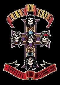 GUNS N ROSES APPETITE FOR DESTRUCTION FABRIC POSTER