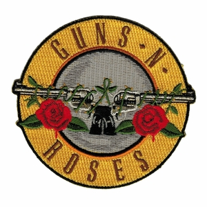 GUNS N' ROSES BULLET LOGO EMBROIDERED PATCH