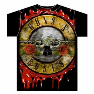 GUNS N ROSES JUMBO BLOODY BULLET MEN'S T-SHIRT