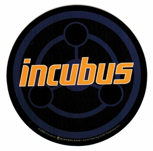 INCUBUS CONCENTRIC CIRCLES ROUND STICKER
