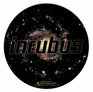 INCUBUS UNIVERSE ROUND STICKER