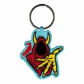 INSANE CLOWN POSSE GHOST RED WRAITH EMBROIDERED RECTANGLE KEYCHAIN
