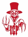 INSANE CLOWN POSSE RINGMASTER LOGO RUB-ON STICKER RED