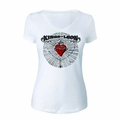 KINGS OF LEON FIERY HEART WOMEN'S V-NECK T-SHIRT