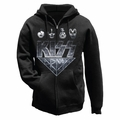 KISS ARMY FACES MEN'S  ZIP HOODIE