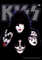 KISS FOUR FACES FABRIC POSTER