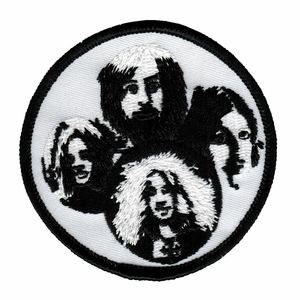 LED ZEPPELIN BAND FACES EMBROIDERED PATCH
