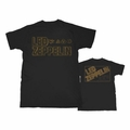 LED ZEPPELIN SQUARE GOLD LOGO MEN'S T-SHIRT