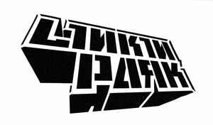 LINKIN PARK DIMENSIONAL BLOCK LOGO RUB-ON STICKER BLACK