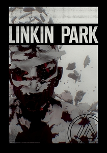 LINKIN PARK LIVING THINGS FABRIC POSTER