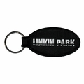 LINKIN PARK STENCIL LOGO EMBROIDERED OVAL KEYCHAIN