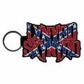 LYNYRD SKYNYRD FLAG LOGO EMBROIDERED RECTANGLE KEYCHAIN