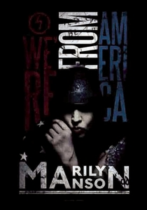 MARILYN MANSON AMERICAN GRAFFITI FABRIC POSTER
